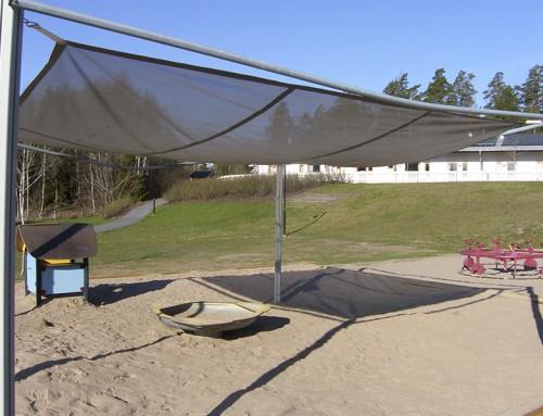 Solskydd till lekplats